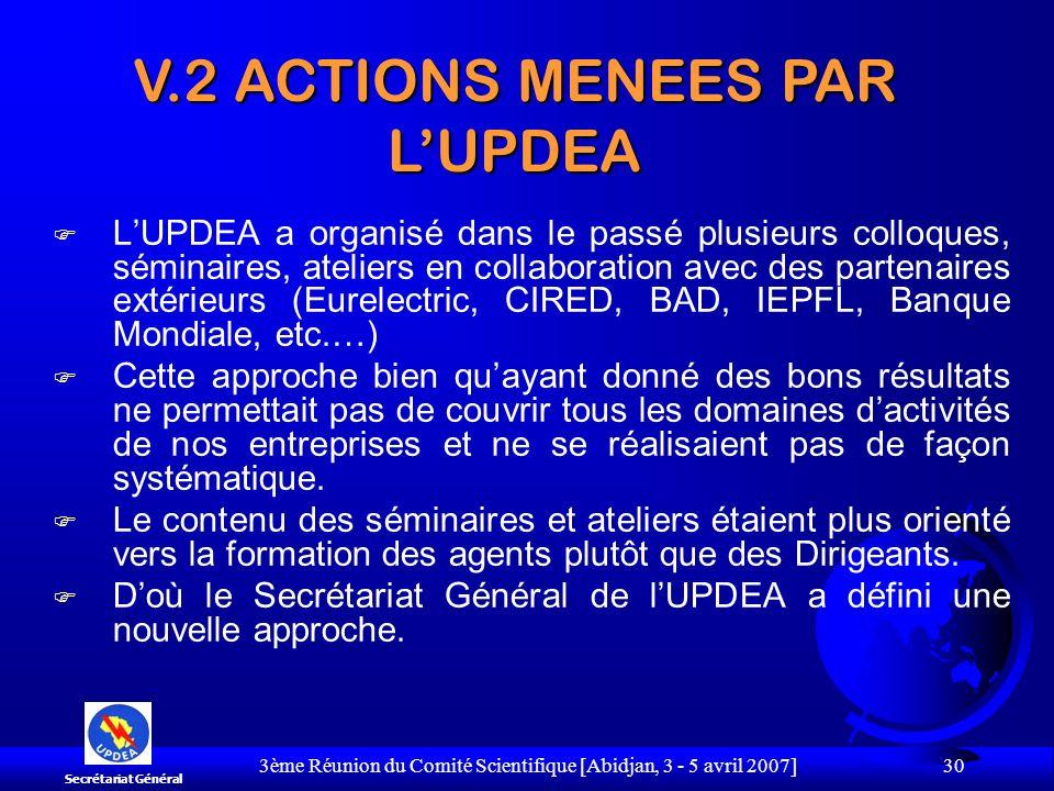 3ème Réunion du Comité Scientifique [Abidjan, 3 - 5 avril 2007] 30 F LUPDEA a organisé dans le passé plusieurs colloques, séminaires, ateliers en coll