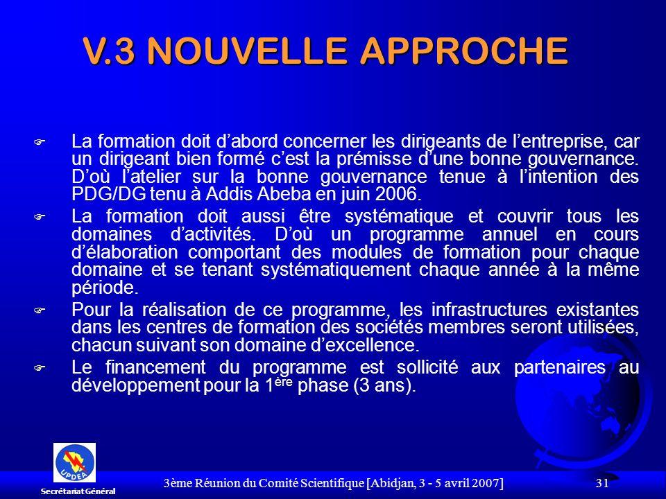 3ème Réunion du Comité Scientifique [Abidjan, 3 - 5 avril 2007] 31 F La formation doit dabord concerner les dirigeants de lentreprise, car un dirigean
