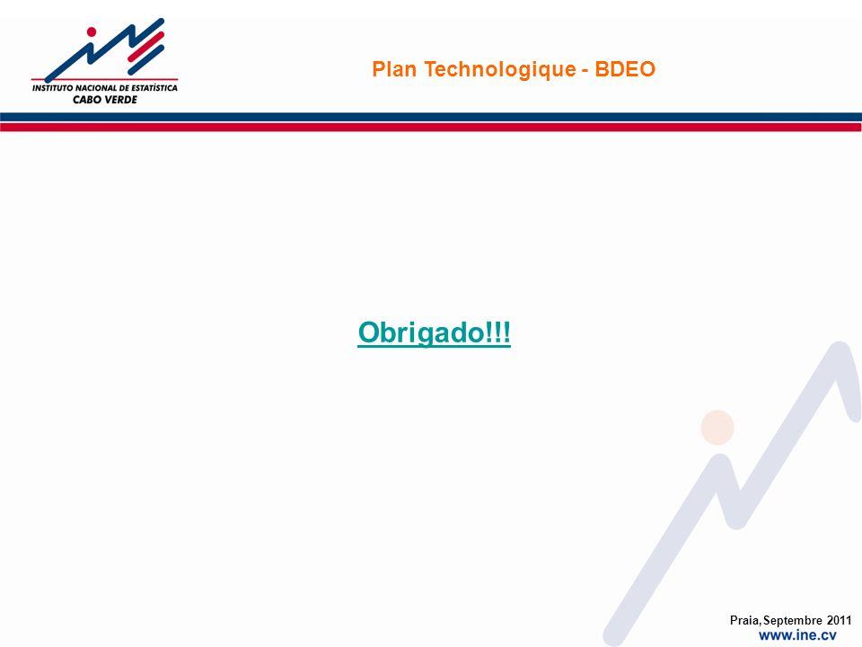 Obrigado!!! Plan Technologique - BDEO Praia,Septembre 2011