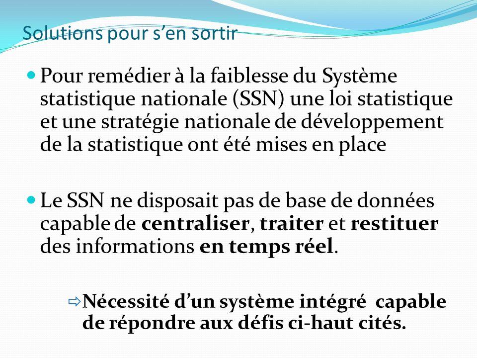 Pour remédier à la faiblesse du Système statistique nationale (SSN) une loi statistique et une stratégie nationale de développement de la statistique