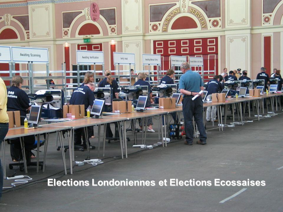 Elections Londoniennes et Elections Ecossaises