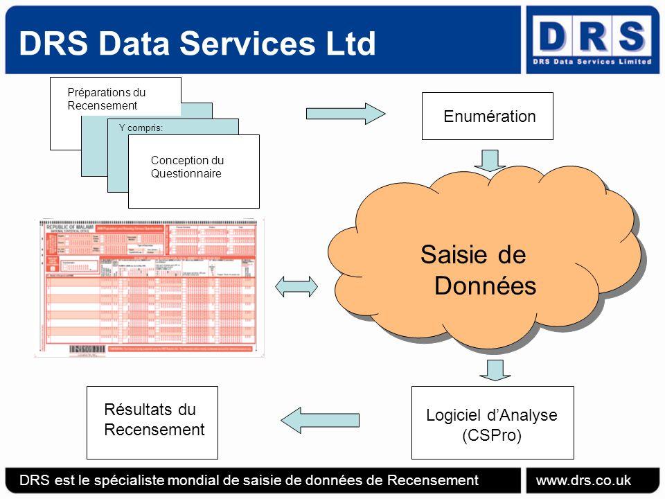 DRS Data Services Ltd Ajouter un champ supplémentaire au Formulaire de Recensement DRS est le spécialiste mondial de saisie de données de Recensement www.drs.co.uk