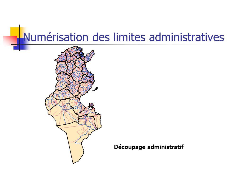 Numérisation des limites administratives Découpage administratif
