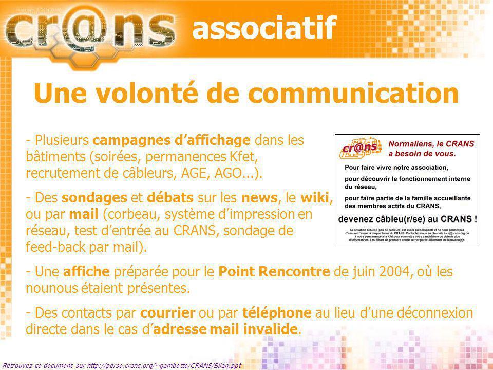 Retrouvez ce document sur http://perso.crans.org/~gambette/CRANS/Bilan.ppt La paperasserie - Avertissement à la préfecture après les trois changements de bureau.