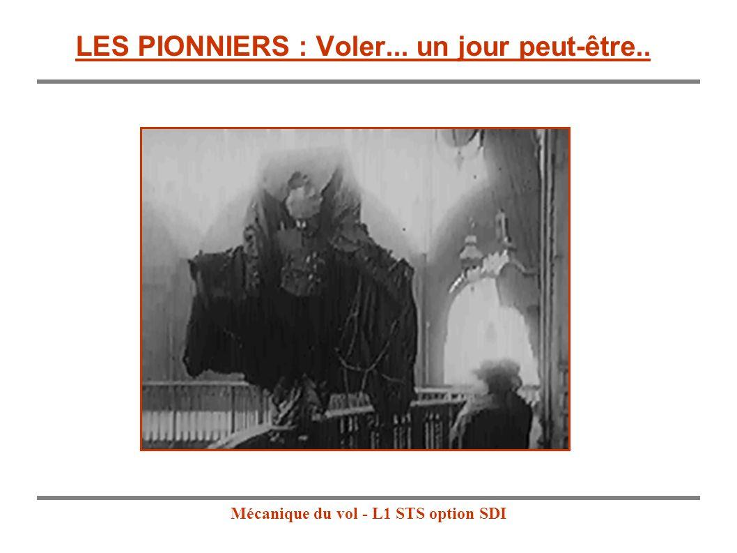Mécanique du vol - L1 STS option SDI HISTOIRE DE LAVIATION : LES PIONNIERS En 1709 au Portugal : Un prêtre Brésilien, Bartolomeu de Gusmaõ, fait s élever dans une pièce un petit ballon gonflé à l air chaud..