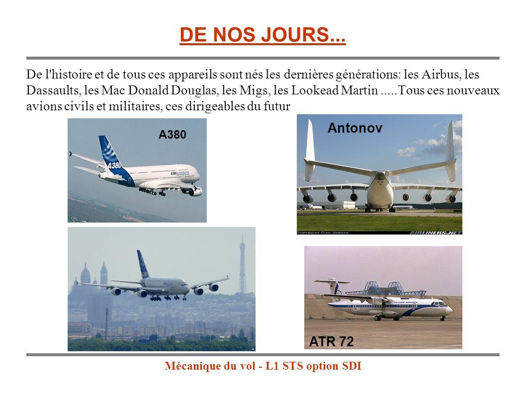 Mécanique du vol - L1 STS option SDI DE NOS JOURS...