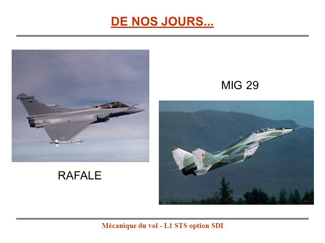 Mécanique du vol - L1 STS option SDI RAFALE MIG 29 DE NOS JOURS... MIG 29