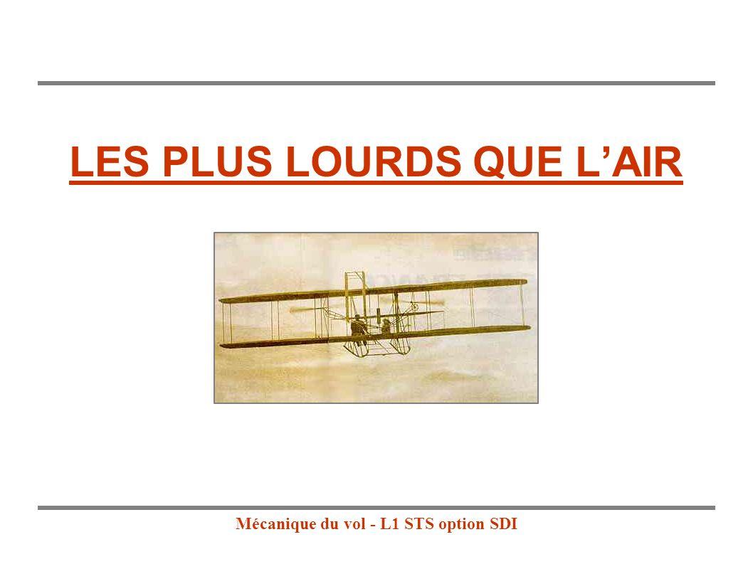 Mécanique du vol - L1 STS option SDI LES PLUS LOURDS QUE LAIR