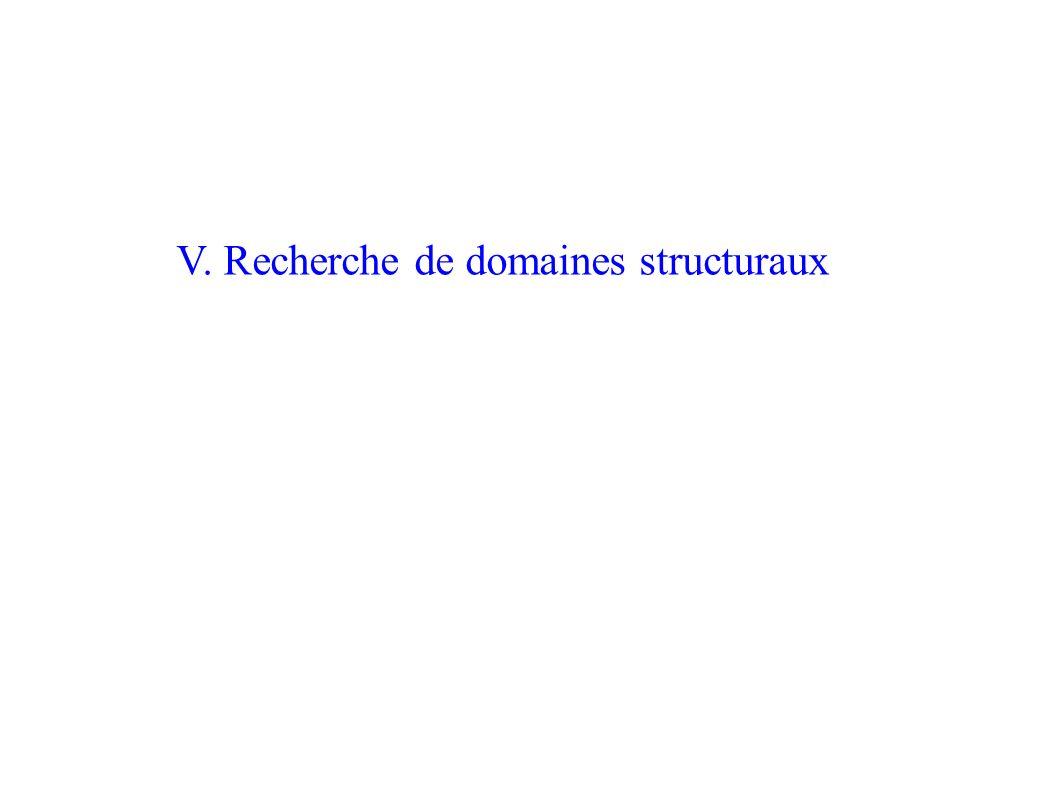 V. Recherche de domaines structuraux