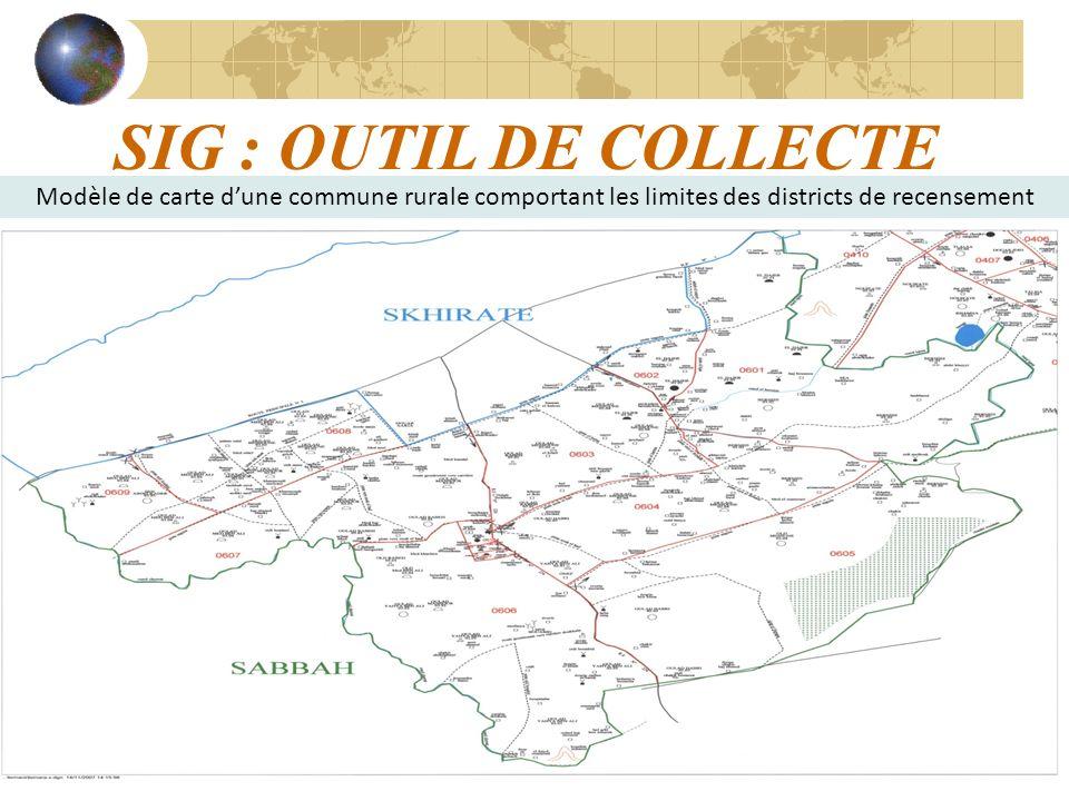 15 SIG : OUTIL DE COLLECTE Modèle de carte dune commune rurale comportant les limites des districts de recensement