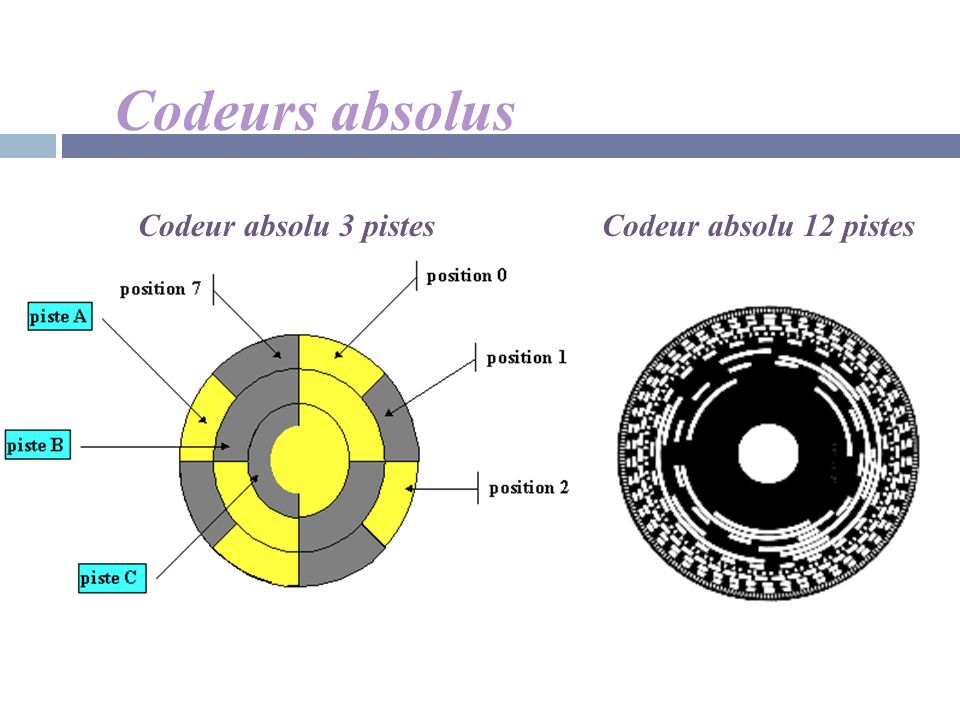 Codeurs absolus Codeur absolu 12 pistesCodeur absolu 3 pistes