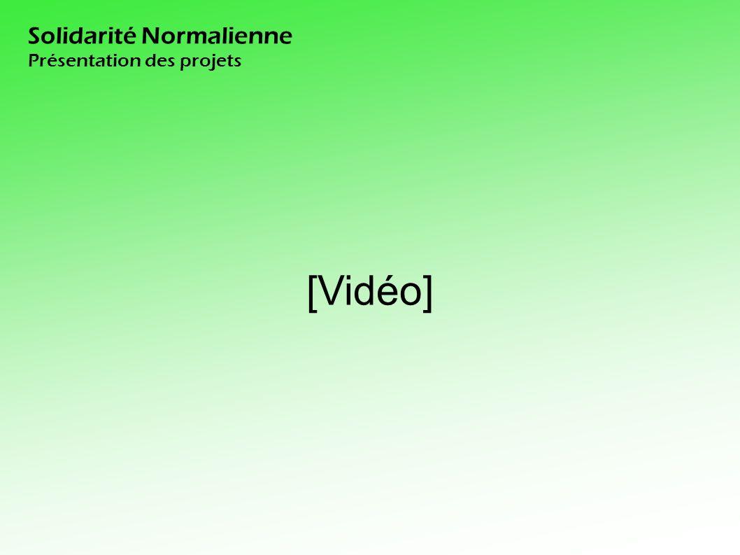 Solidarité Normalienne Présentation des projets [Vidéo]