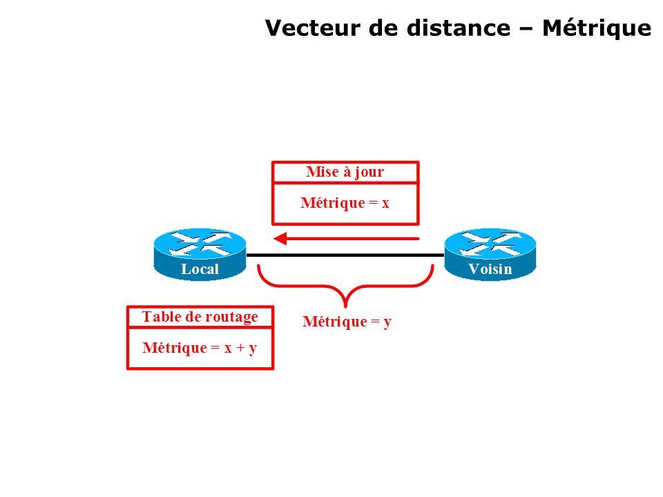 Vecteur de distance – Métrique