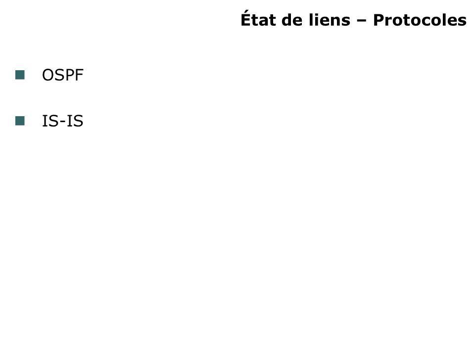 État de liens – Protocoles OSPF IS-IS