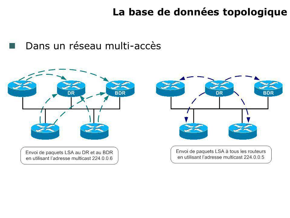 La base de données topologique Dans un réseau multi-accès