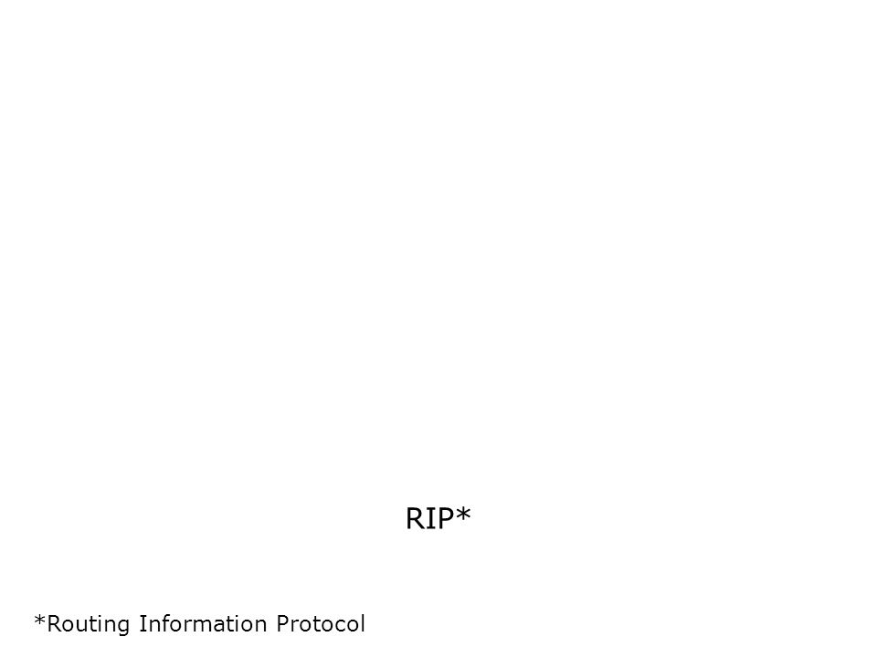 RIP* *Routing Information Protocol