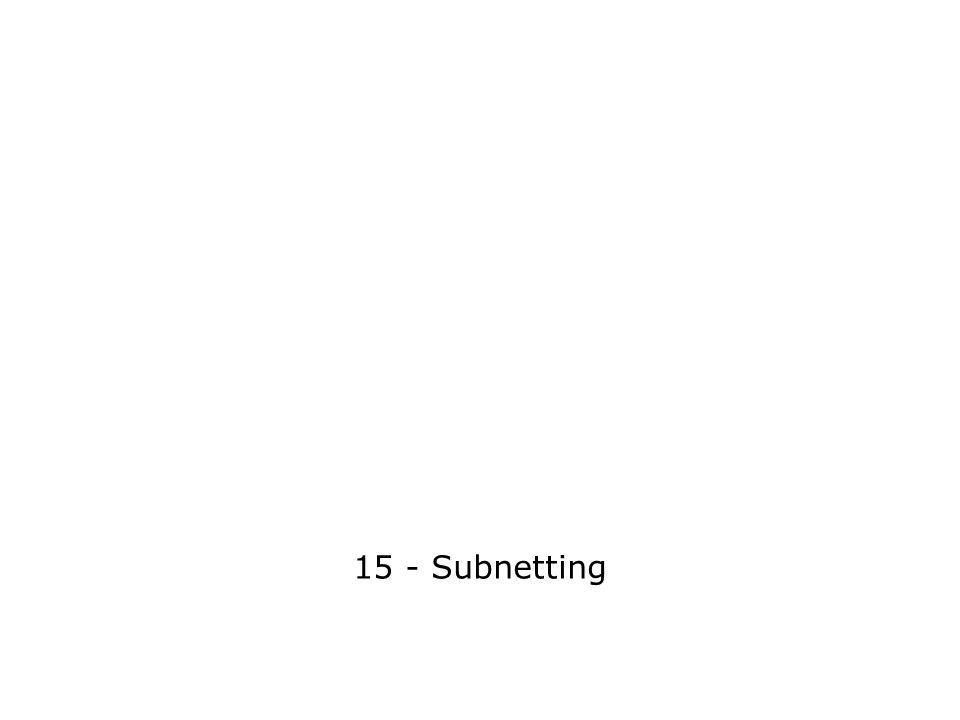 15 - Subnetting