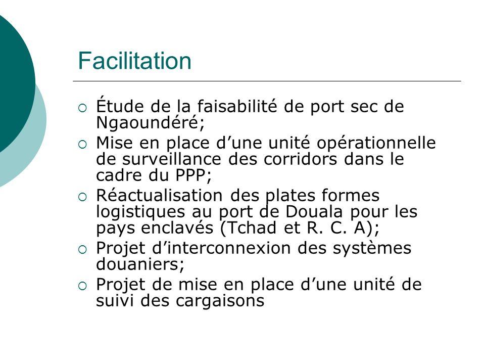 Facilitation Étude de la faisabilité de port sec de Ngaoundéré; Mise en place dune unité opérationnelle de surveillance des corridors dans le cadre du