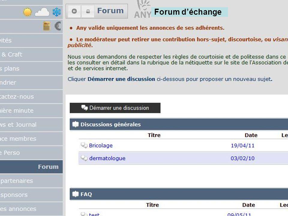 Forum déchange