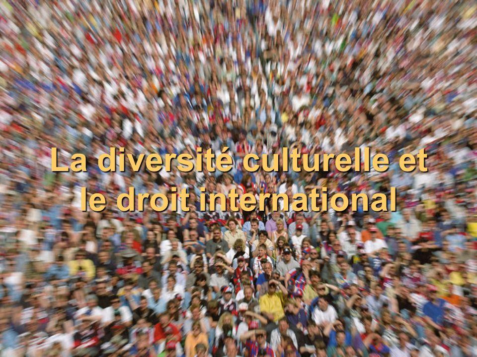 La diversité culturelle et le droit international