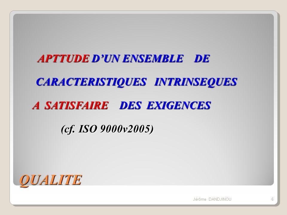 LES RAISONS TECHNIQUES AMELIORER LES PERFORMANCES TECHNIQUES DES PRODUITS/SERVICES MEILLEURE MAITRISE DES TECHNIQUES (PAR LAMELIORATION ET LA STANDARDISATION DES METHODES DEMARCHES ET PROCEDURES) 27Jérôme DANDJINOU