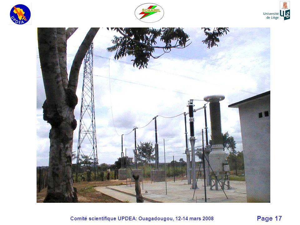 Comité scientifique UPDEA: Ouagadougou, 12-14 mars 2008 Page 17