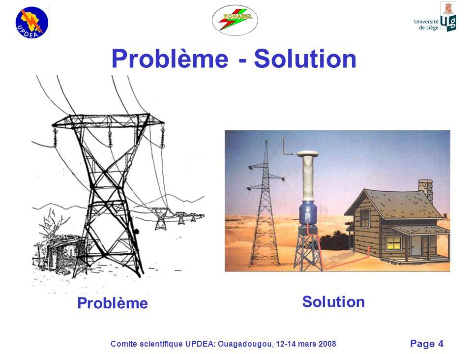Comité scientifique UPDEA: Ouagadougou, 12-14 mars 2008 Page 15 Solution pour la mise à la terre Terre pylône connectée à la terre HT du poste Terre BT et HT connectées à travers un parafoudre ( 3 kV à 50 Hz) Enroulements secondaires du TTPSF6 protégés par un parafoudre parallèle pour limiter les surtensions à 2 kV