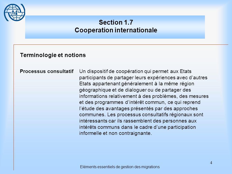 5 Coopération internationale Premier sujet Les fondements de la coopération internationale