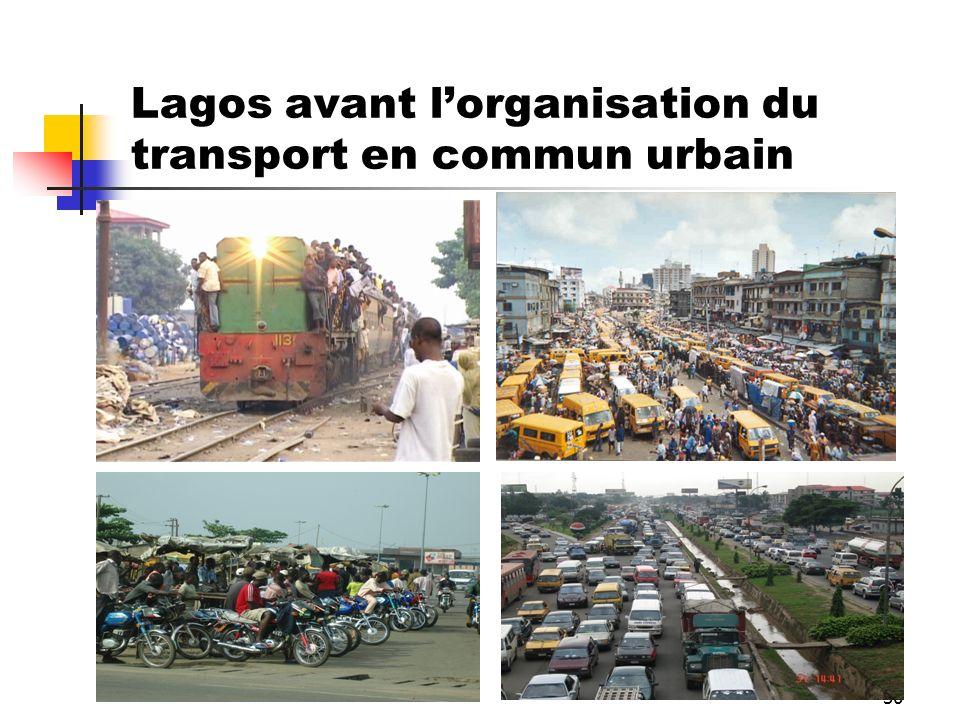 30 Lagos avant lorganisation du transport en commun urbain
