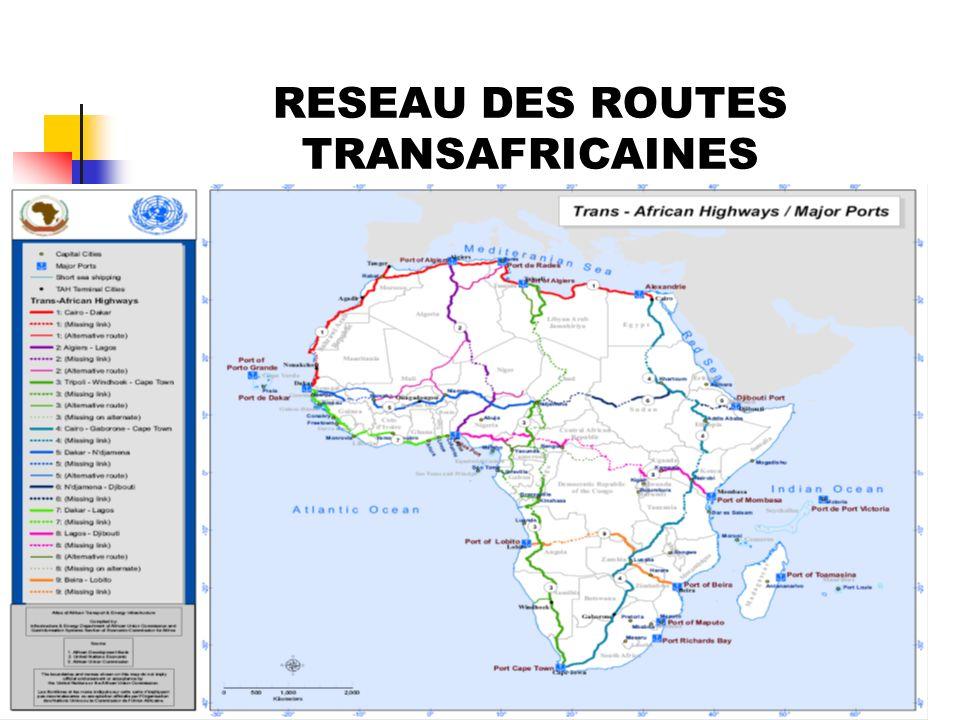 6 RESEAU DES ROUTES TRANSAFRICAINES