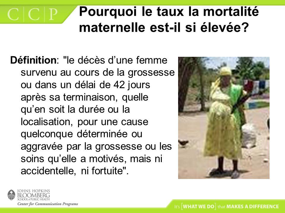 Pourquoi le taux la mortalité maternelle est-il si élevée? Définition: