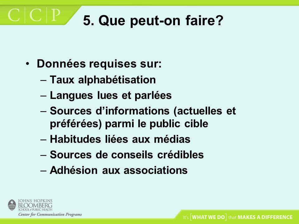 5.Que peut-on faire.