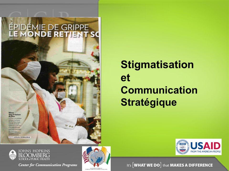 Objectifs de la session A la fin de cette session, les participants doivent être capables de : Déterminer les raisons qui sont à la base de la stigmatisation, particulièrement en ce qui concerne le VIH/SIDA ; Expliquer comment la stigmatisation affecte les comportements, notamment en matière de VIH/SIDA ; Identifier les pistes dintervention du point de vue de la communication stratégique