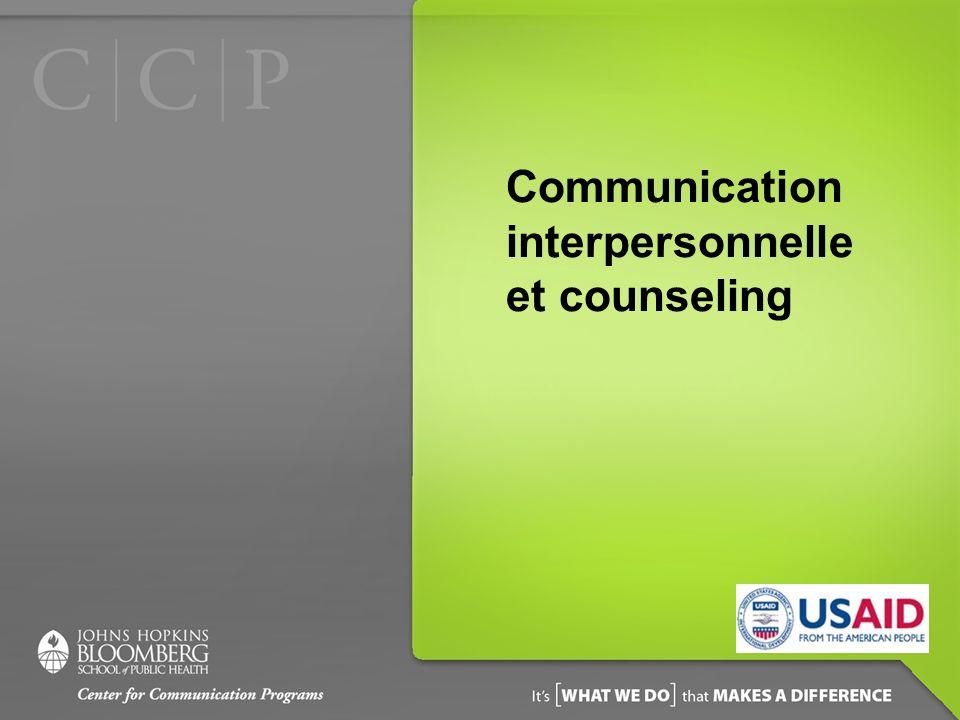 Communication interpersonnelle et counseling