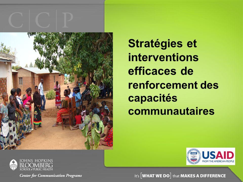 Stratégies et interventions efficaces de r enforcement des capacités communautaires
