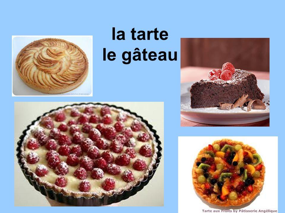 la tarte le gâteau