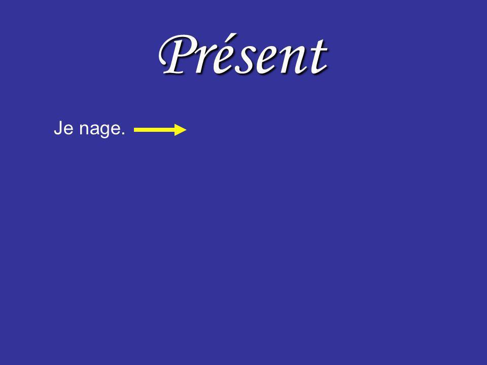 Présent Passé Je nage.1. I swimI swam 2. I do swimI did swim was 3. I am swimmingI was swimming