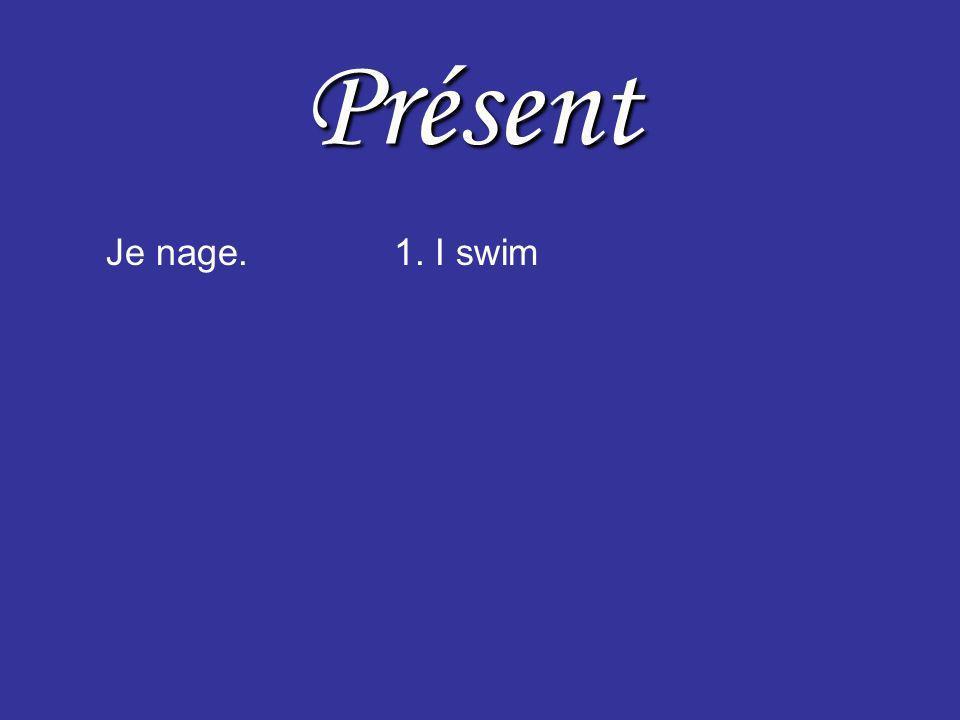 Présent Je nage.1. I swim