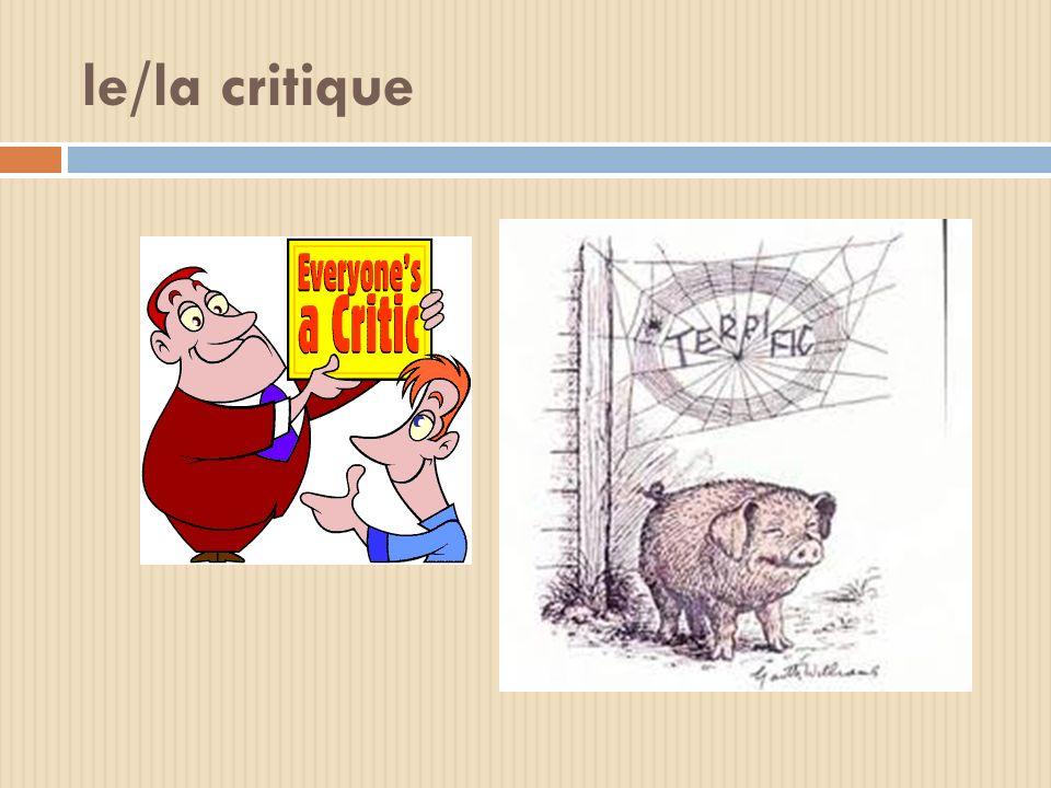 le/la critique
