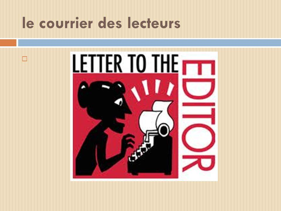 le courrier des lecteurs