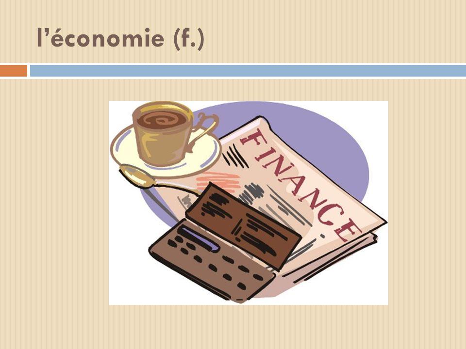 léconomie (f.)