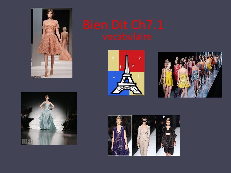 Bien Dit Ch7.1 vocabulaire