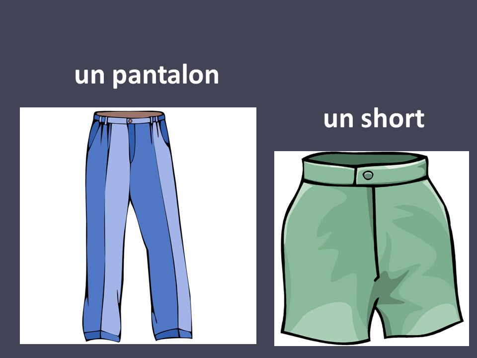 un pantalon un short