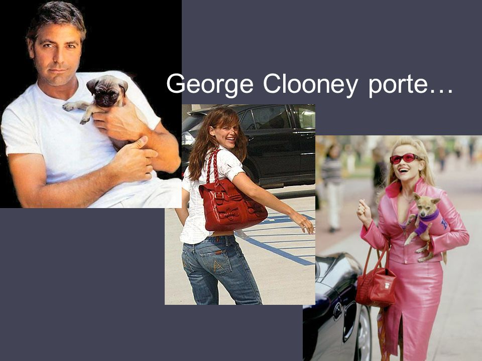 George Clooney porte…