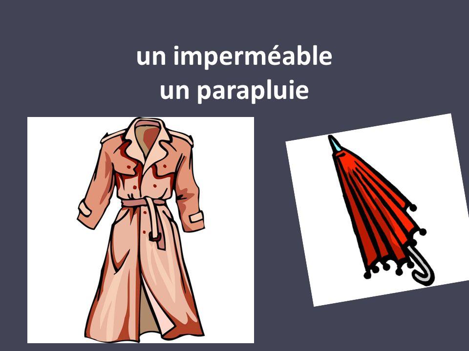 un imperméable un parapluie
