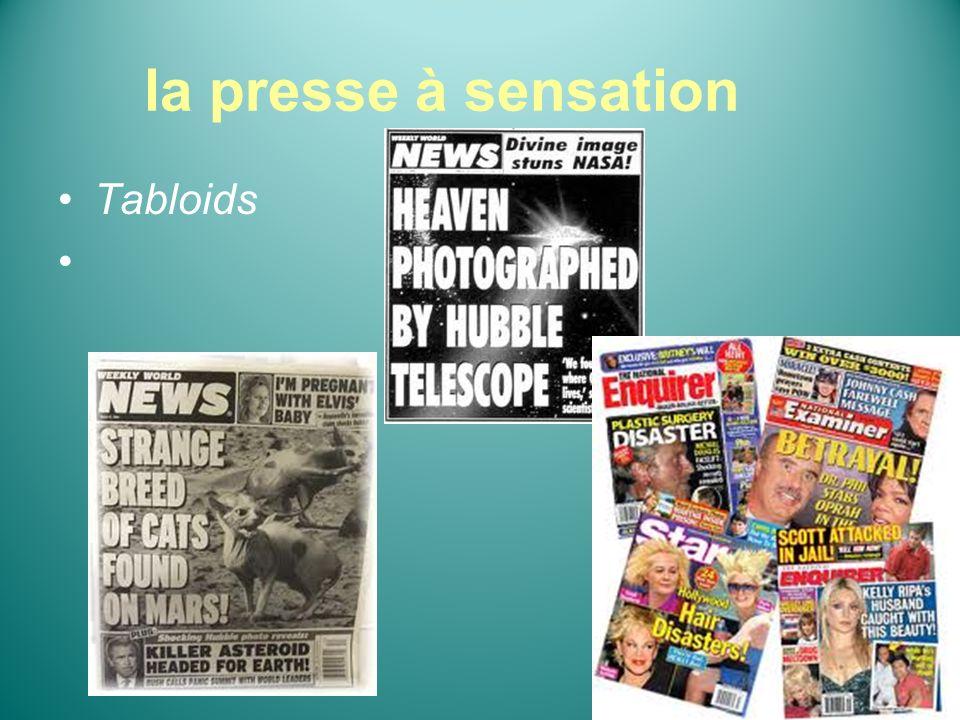 la presse à sensation Tabloids