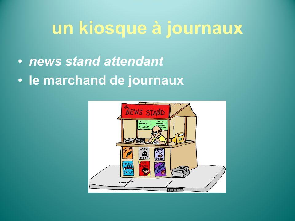 un kiosque à journaux news stand attendant le marchand de journaux