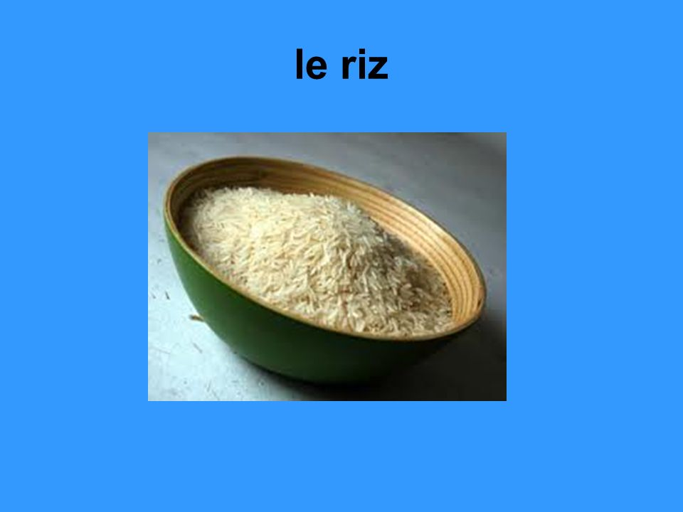 le riz