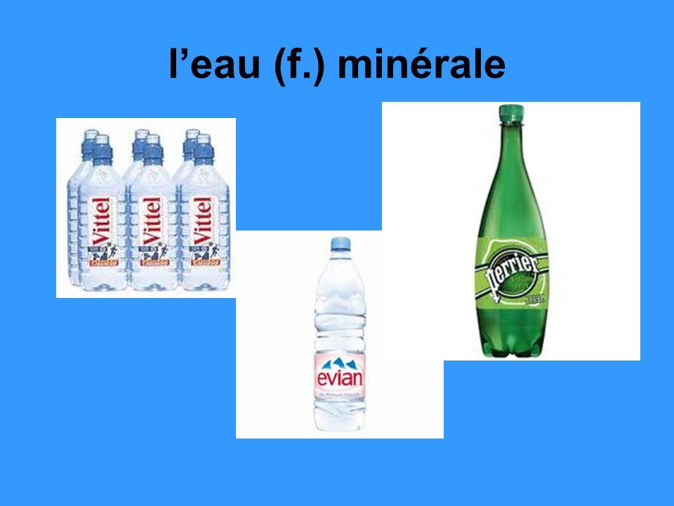 leau (f.) minérale
