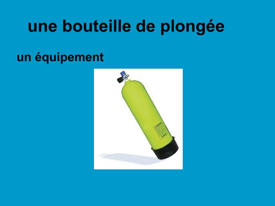 une bouteille de plongée un équipement